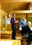 Hirviporukan vetäjä Hannu Siljanen toivottamassa peijjaisvieraat tervetulleeksi 2016